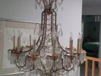 Beautiful Antique Chandelier made in Italy. Original