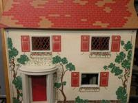 "1940""s Doll House / 24.5"" x 15"" x 22"" High 5 Rooms with"