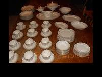 This is a beautiful set of China. It is Eggshell
