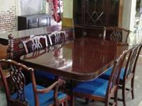 9 piece mahogany dining set made in the 1940's in very