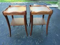 These TWO MATCHING END TABLES are from the 1940's