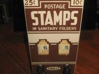 1940's  Porcelain front stamp machine by Shipman, great