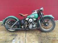 1940 Harley-Davidson EL Knucklehead Unrestored. Bike