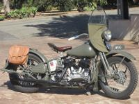 1940 Harley Davidson UA 74ci. MilitaryOne of just 300