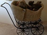 FOR SAL: 1940's Wicker Baby Carriage   Good condition