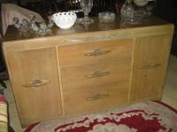 Lovely Old Bleached Wood 1940's Buffet by Harmony