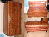 This is a vintage Lane cedar chest from the 1940s. It
