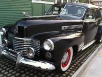 1941 Cadillac Series 62 Black four door with manual