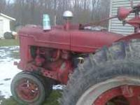 1941 Farmall H w/3 POINT HITCH for sale. $1200.00.