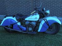 1941 Indian Sport Scout 45 Very Original. 1941 Indian