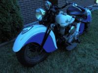 1941 Indian Sport Scout. This bike has been stored in