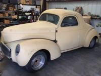 This is '41 Willys 439 Americar  Coupe that was a show