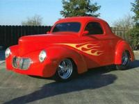 1-1941 Willys Coupe with a 40 split grill. Dennis