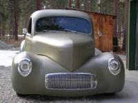 1941 Willys Custom. IDA Body, Rod Craft touring Frame,