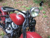 1941 Harley WLA period bobber. Completely rebuilt the