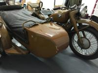 1942 BMW R71. Includes sidecar with spare-tire and gas