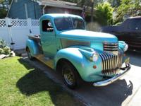 NEWLY REPAINTED ,STEPSIDE ,PICKUP, DRIVER.HOT ROD