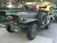 1942 Dodge WW2 WC52 Military Truck. Original build date