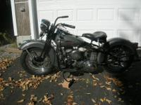 Very expensive restoration of a 1942 WLA Harley