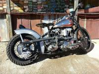 1942 EL Knucklehead sitting in a 41 factory de-raked
