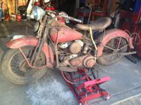 "Here is a true ""BARN FIND"". It is a 1942 WLA ""War"