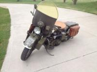 Really nice 1942 Harley-Davidson WLA bike. The WLA is