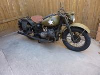 1942 Indian 841 WW2 XA. Totally awsome and super rare