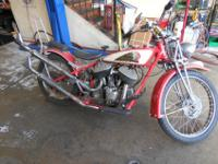 1942 Indian Motorcycle Chout with an 80 cubic In motor,