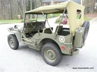 1942 WORLD WAR II FORD CPW JEEP, Here is a very