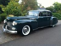 For 1942, the Lincoln Continentals were redesigned to