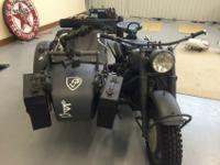 1942 BMW R75 military motorcycle with sidecar and