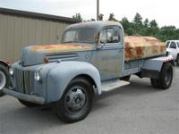1943 FORD TRUCK WITH EARLY RIVETED FUEL TANK. THE TRUCK