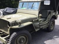 1943 Willys MB Jeep Complete Restoration. Complete