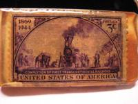 1944 Gold Plated 75th Anniversary Stamp Money Clip,