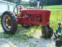 1944 farmall M, runs great,looks great. Location: