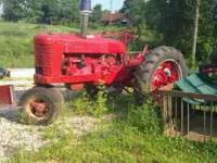 1944 Farmall M Tractor Runs In the process of being