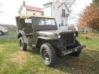 1944 Willys Military Jeep Model MBThis is a 1944 Willys