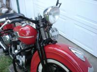 Nicely restored 1945 Harley-Davidson 45 Cubic Inch