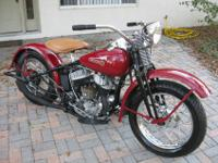 You are looking at a very beautiful 1945 Harley