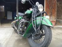 Nice original bike with new paint and tanks; we have