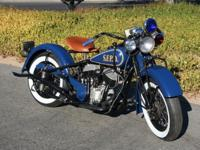 1945 Indian Chief Police Motorcycle Clear. Completely