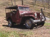 Jeep 1945 CJ2A Hard Top with doors, Spare tire carrier