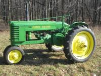 I have a 1945 John Deere Model H for sale. Has new