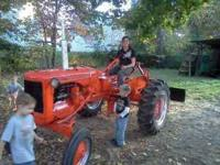 1946 Allis Chalmers tractor, restored, converted to 12
