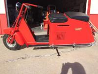 Really nice 1046 Cushman Pacemaker Scooter. Runs great,