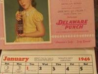 For sale is a 1946 Delaware Punch Calender with little