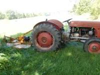 1946 Ferguson Tractor and Brush Hog - runs good - will