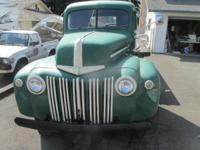 This is a 1946 Ford flat bed truck Vin # 99T702090 and