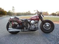 HARLEY DAVIDSON 1946FL KNUCKLEHEAD BOBBER WITH CLEAR