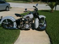 1946 Harley Davidson FL Knucklehead Grey. Clean title